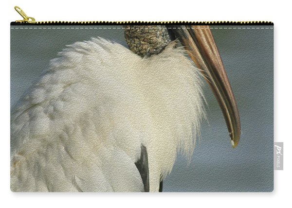 Wood Stork In Oil Carry-all Pouch