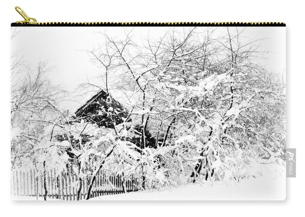 Wooden House After Heavy Snowfall. Russia Carry-all Pouch