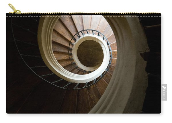 Carry-all Pouch featuring the photograph Wooden Spiral by Jaroslaw Blaminsky