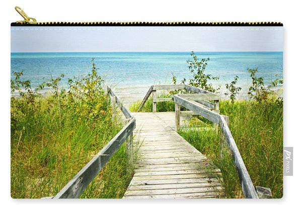 Wooden Walkway Over Dunes At Beach Carry-all Pouch