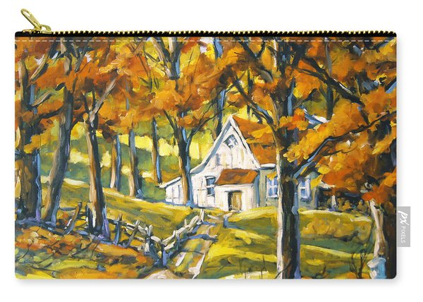 Woodland Sugar Shack By Prankearts Carry-all Pouch