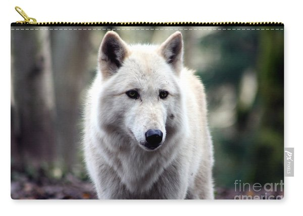 Woodland White Wolf Carry-all Pouch