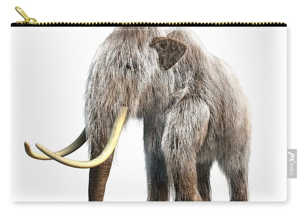 Woolly Mammoth, White Background Carry-all Pouch