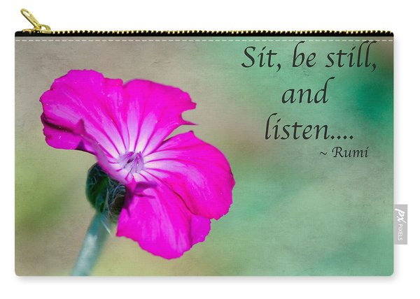 Words From Rumi Carry-all Pouch