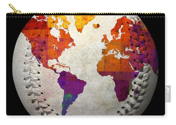 World Map - Rainbow Bliss Baseball Square Carry-all Pouch