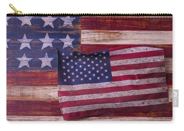 Worn American Flag Carry-all Pouch
