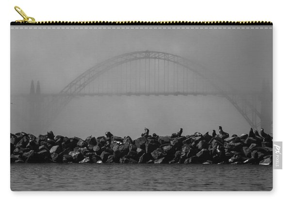 Yaquina Bay Bridge Under Fog Carry-all Pouch