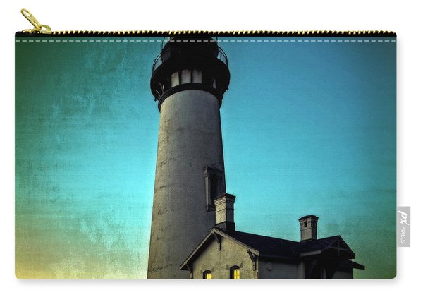 Yaquina Head Lighthouse At Sunset Carry-all Pouch