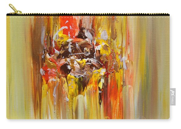 Yellow Abstract Landscape Carry-all Pouch