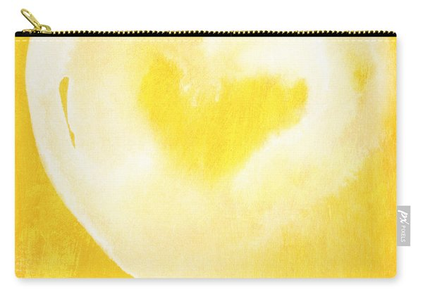 Yellow And White Love Carry-all Pouch
