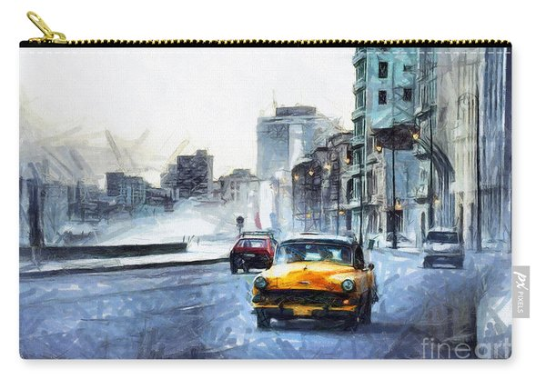 Yellow Car Carry-all Pouch