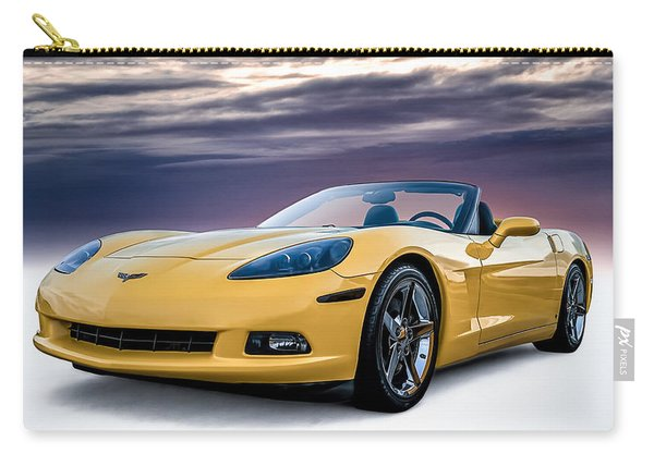 Yellow Corvette Convertible Carry-all Pouch
