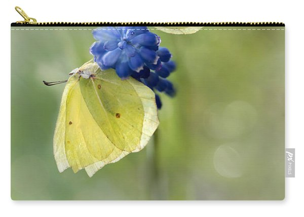 Carry-all Pouch featuring the photograph Yellow Duet by Jaroslaw Blaminsky