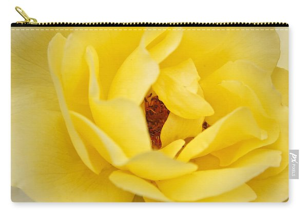 Carry-all Pouch featuring the photograph Yellow English Rose by Susan Leonard