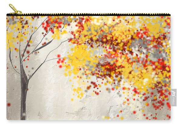 Yellow Gray And Red Carry-all Pouch