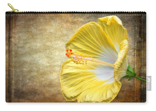 Carry-all Pouch featuring the photograph Yellow Hibiscus by Garvin Hunter