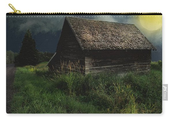 Yellow Moon On The Rise Carry-all Pouch