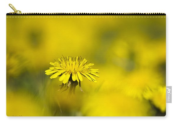 Yellow On Yellow Dandelion Carry-all Pouch