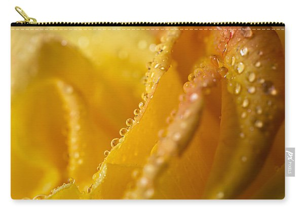 Yellow Rose Dew Carry-all Pouch