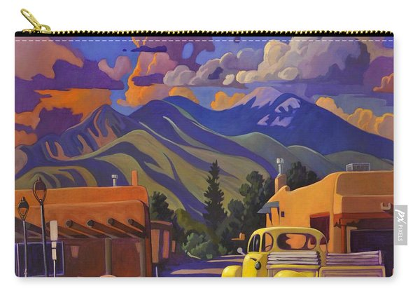 A Yellow Truck In Taos Carry-all Pouch