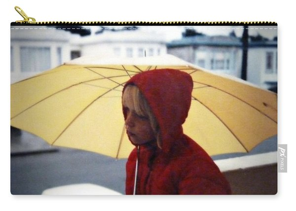 Yellow Umbrella - Polaroid 1976 Carry-all Pouch