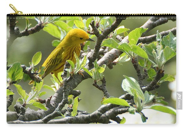 Yellow Warbler In Pear Tree Carry-all Pouch