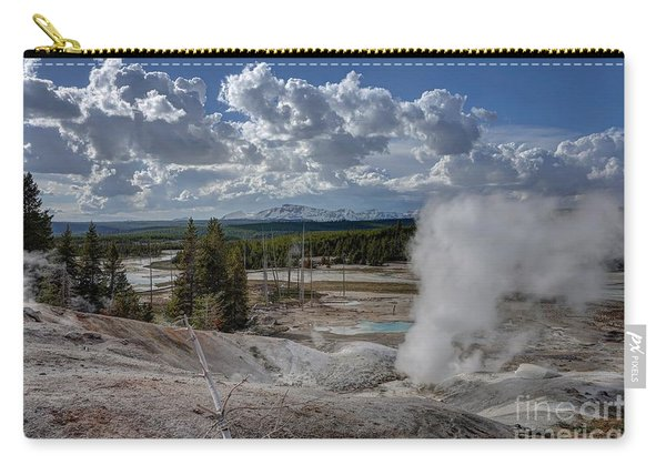 Carry-all Pouch featuring the photograph Yellowstone's Norris Geyser Basin by Bill Gabbert