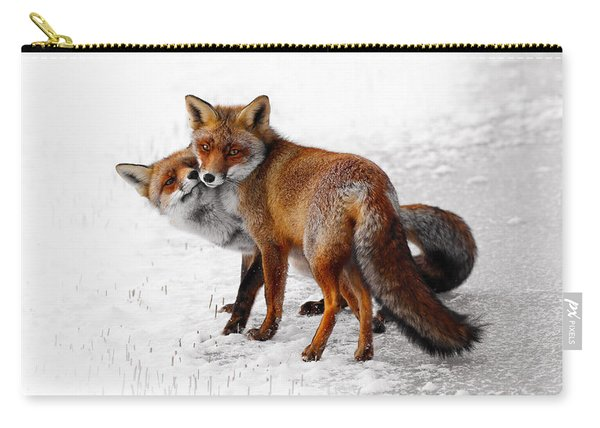 Yin Yang _ Red Fox Love Carry-all Pouch