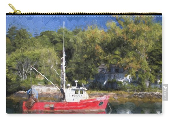 York Harbor Maine Painterly Effect Carry-all Pouch