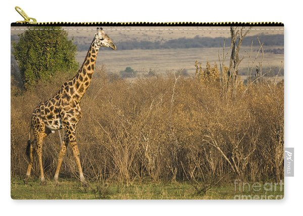 Young Giraffe In Kenya Carry-all Pouch