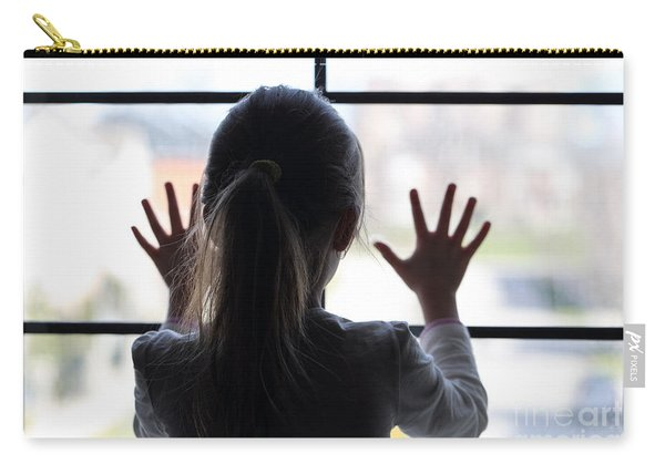 Young Girl At Window Carry-all Pouch