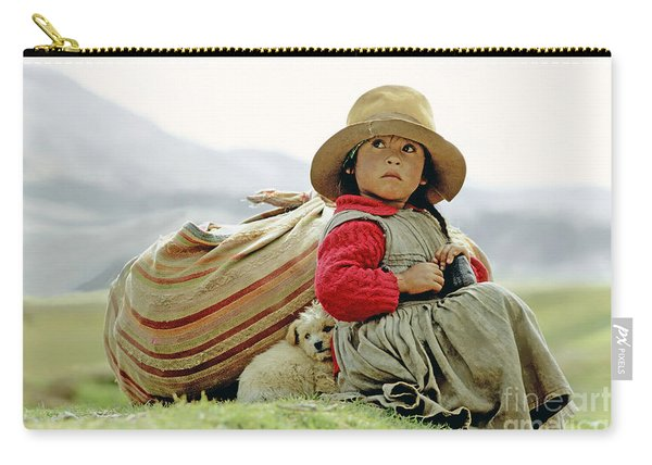 Young Girl In Peru Carry-all Pouch