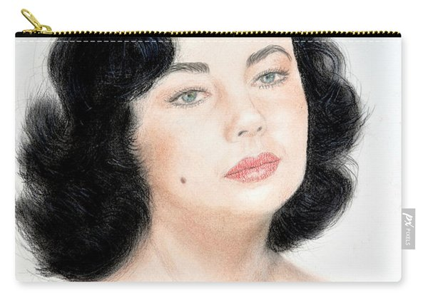 Young Liz Taylor Portrait Remake Carry-all Pouch