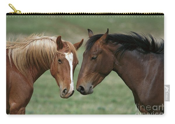Young Mustang Bachelor Stallions Carry-all Pouch
