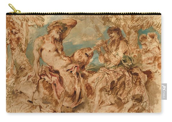 Youth Playing A Pipe For A Satyr Carry-all Pouch