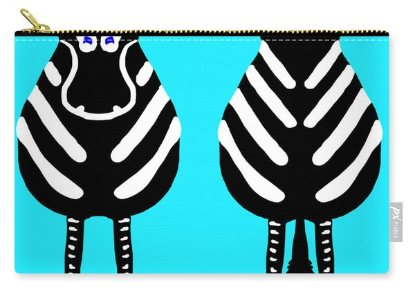 Zebra - Both Ends Carry-all Pouch