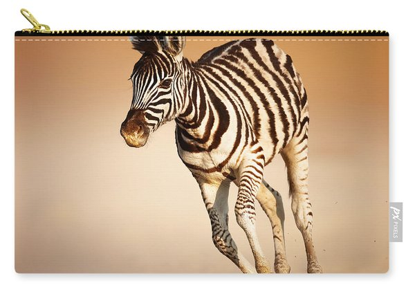 Zebra Calf Running Carry-all Pouch