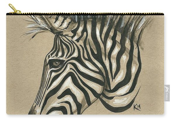 Zebra Profile Carry-all Pouch