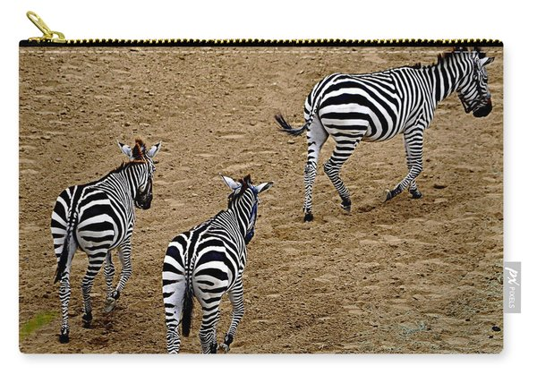 Zebra Tails Carry-all Pouch