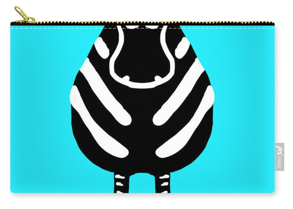 Zebra - The Front View Carry-all Pouch