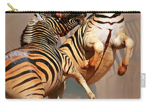 Zebras Fighting Carry-all Pouch