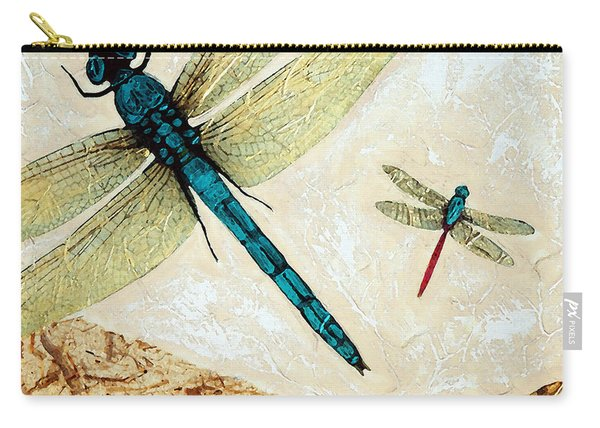 Zen Flight - Dragonfly Art By Sharon Cummings Carry-all Pouch