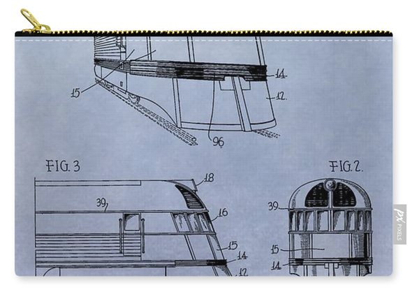 Zephyr Train Patent Carry-all Pouch