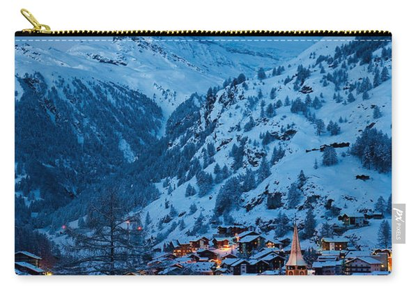 Carry-all Pouch featuring the photograph Zermatt - Winter's Night by Brian Jannsen