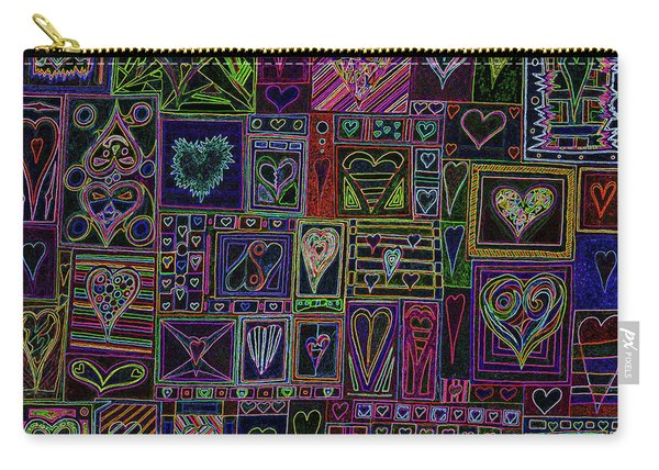 Find U'r Love Found V 3 Carry-all Pouch