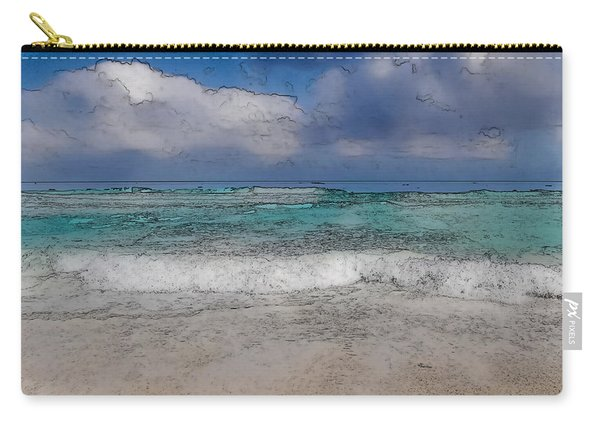 Beach Background Carry-all Pouch