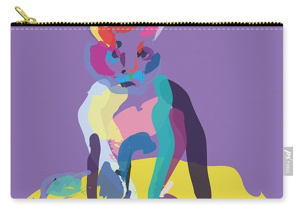 Cat In Colour Carry-all Pouch