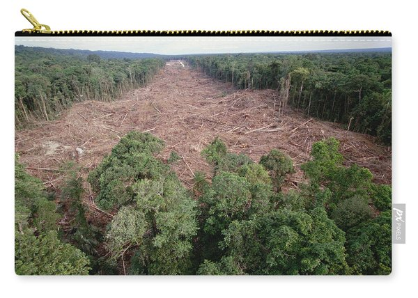 Clearing Of Tropical Rainforest South Carry-all Pouch