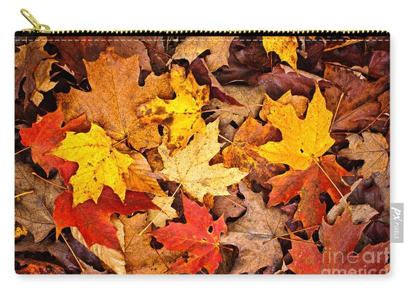 Fall Leaves Background Carry-all Pouch