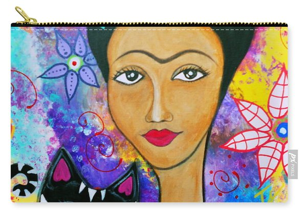 Frida And Her Cat Carry-all Pouch
